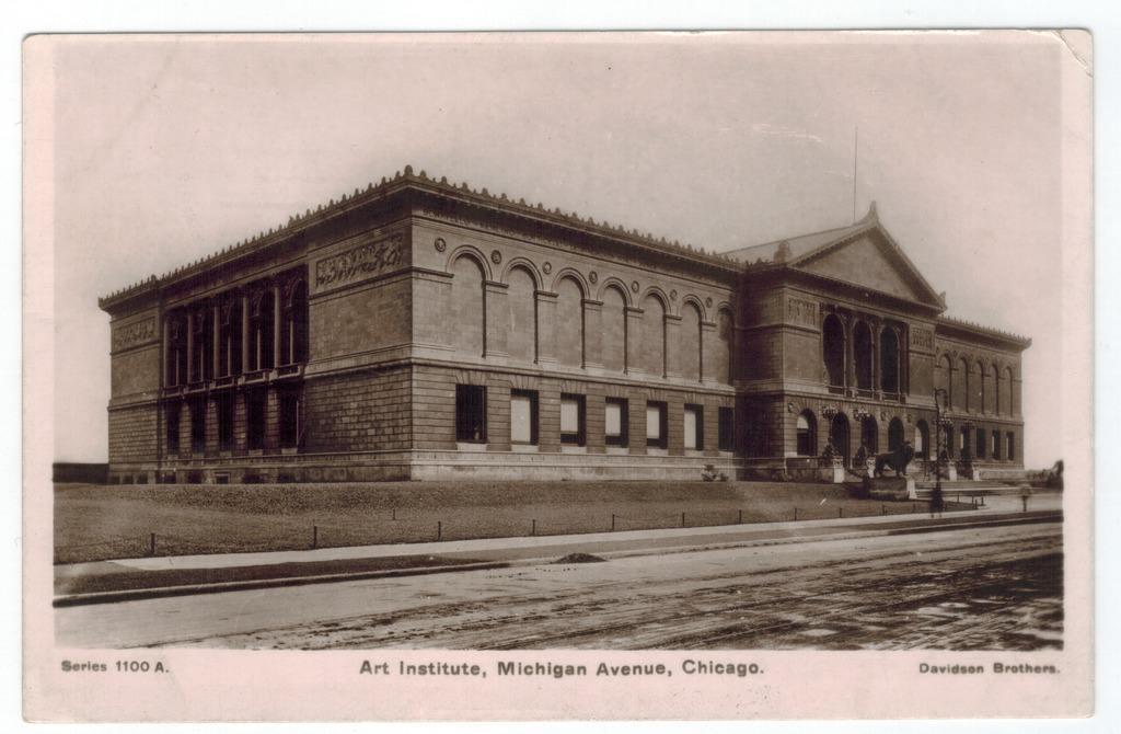 This postcard shows the Art Institute in 1907