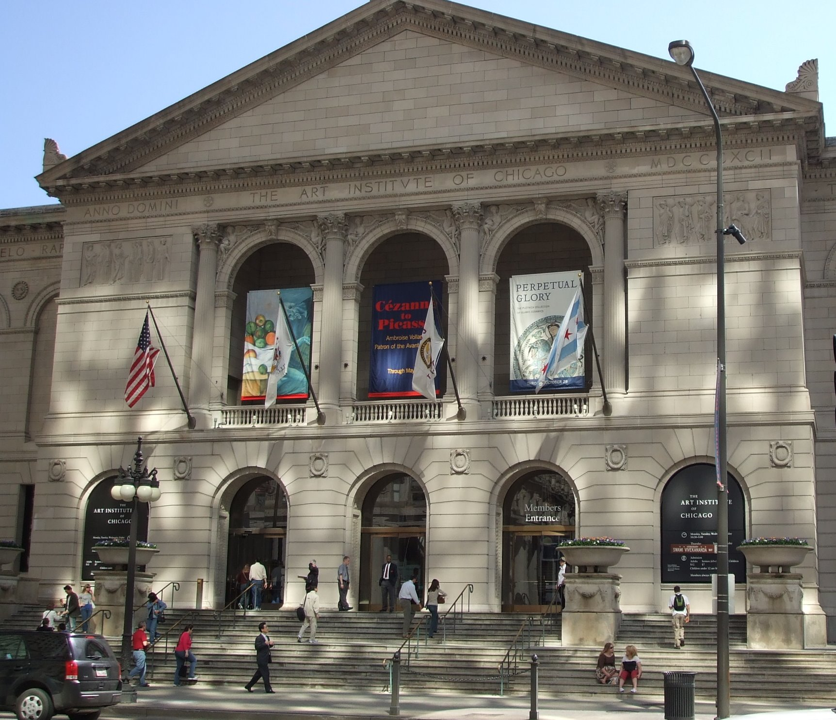 The Art Institute moved into its present location following the conclusion of the Chicago World Fair.
