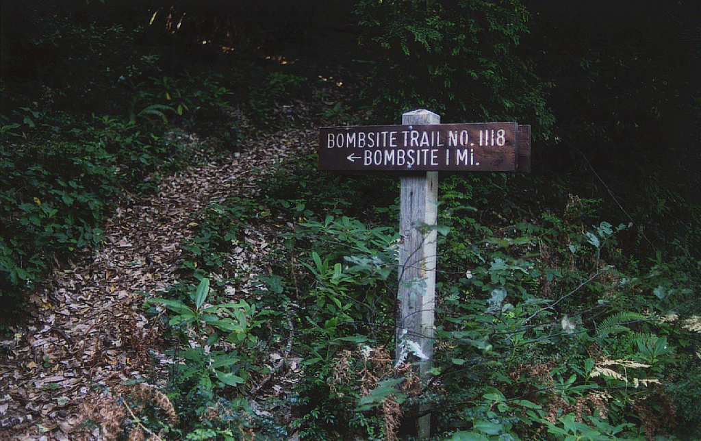 The trailhead to the site