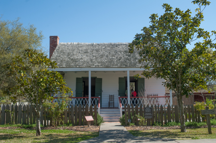 One of the restored homes in the village