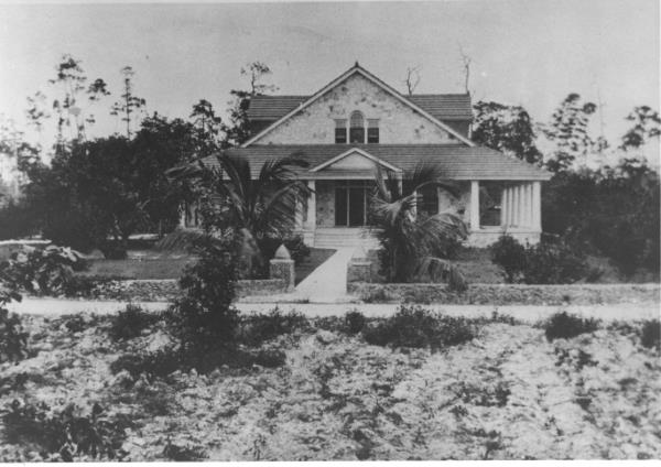 Early photo of the Merrick House