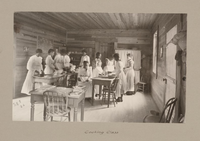 A cooking class at Calhoun Colored School around 1900