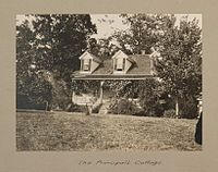 The principal cottage outside Calhoun Colored School