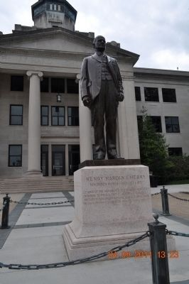 Statue of Dr. Cherry in front of Cherry Hall