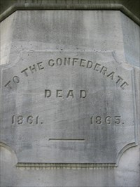 Marker honoring Confederate dead buried on site