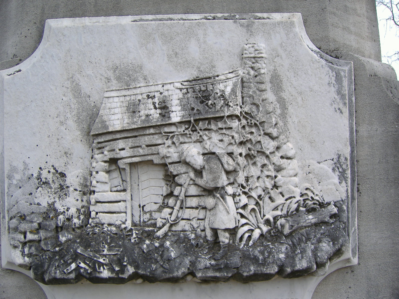 Bas-relief on monument