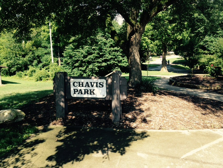 West entry to Chavis Park.
