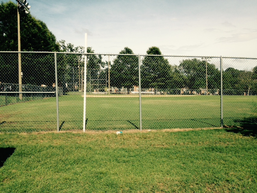 The Chavis Park baseball diamond.