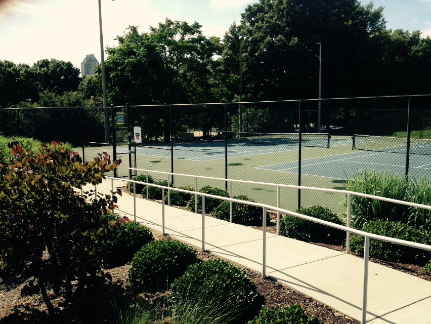 The Chavis Park tennis courts.