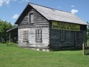 The Mattson cabin is located near the Heritage Center. It was built in in 1872 by Peter and Anna Mattson