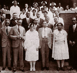 A picture of the staff taken around 1930