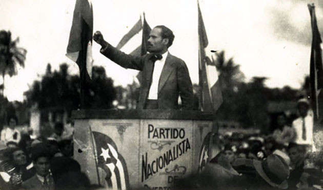 Pedro Albizu Campos was the main leader of the Nationalist Party. He addressed the people, urging them to join the fight for independence.