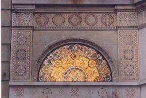 Mosaic design at Ayer Mansion