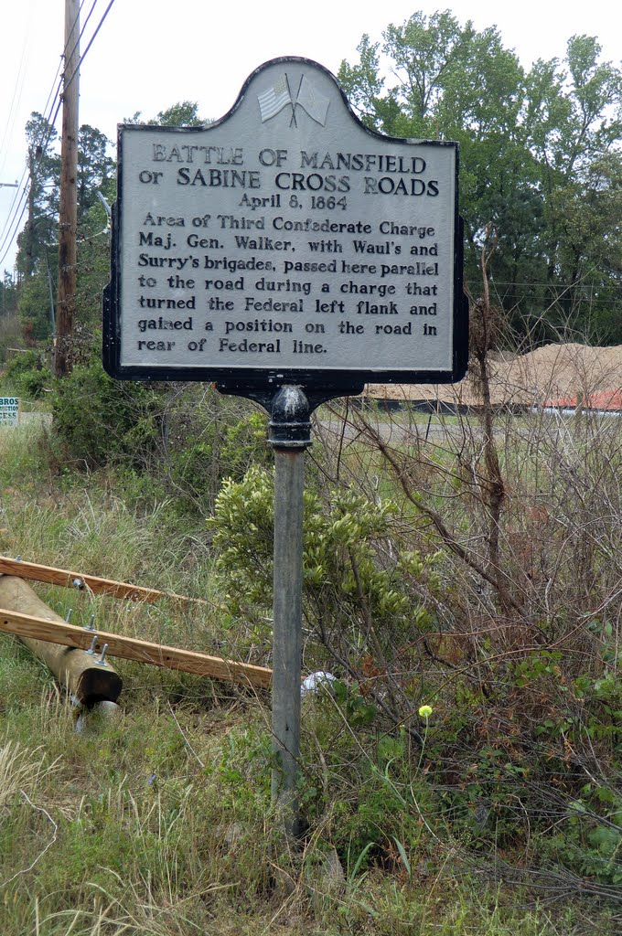 A sign marks a key location of the battle