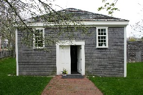 This image is the African Meeting House.  It was developed in the 18th century.