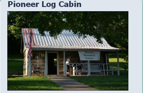 Monroe Community Park-Pioneer Log Cabin