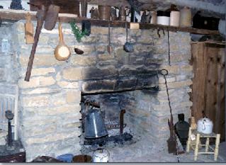 Interior of the Pioneer Log Cabin-Monroe,Ohio