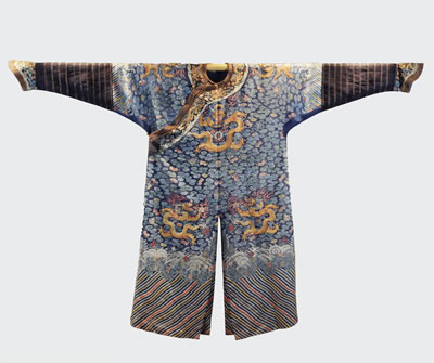 This image shows an article of clothing from the China Legacy exhibit.