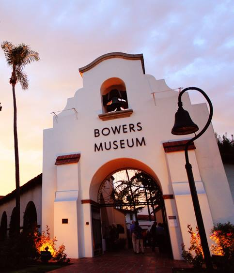 This image shows the actual entrance of the Bowers Museum.
