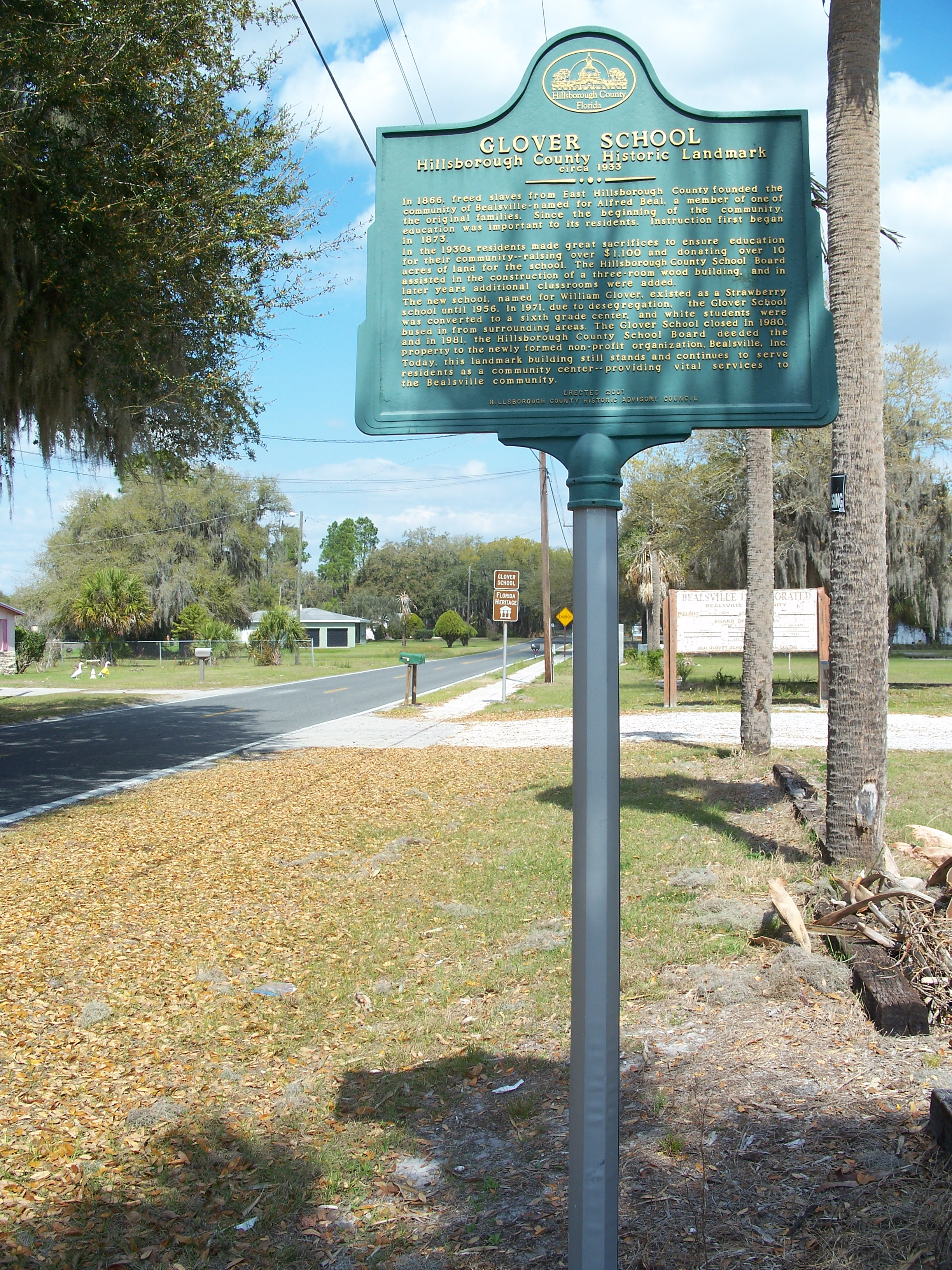 Hillsborough County Historical Marker Sign.