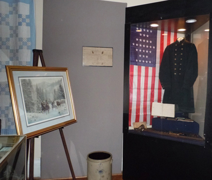 Portion of the Civil War Exhibit