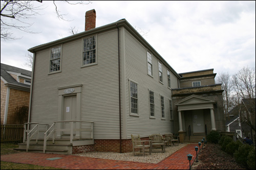 Quaker missionaries converted many of the early residents of Nantucket during the early 19th century. This historic meeting house was built in 1838.