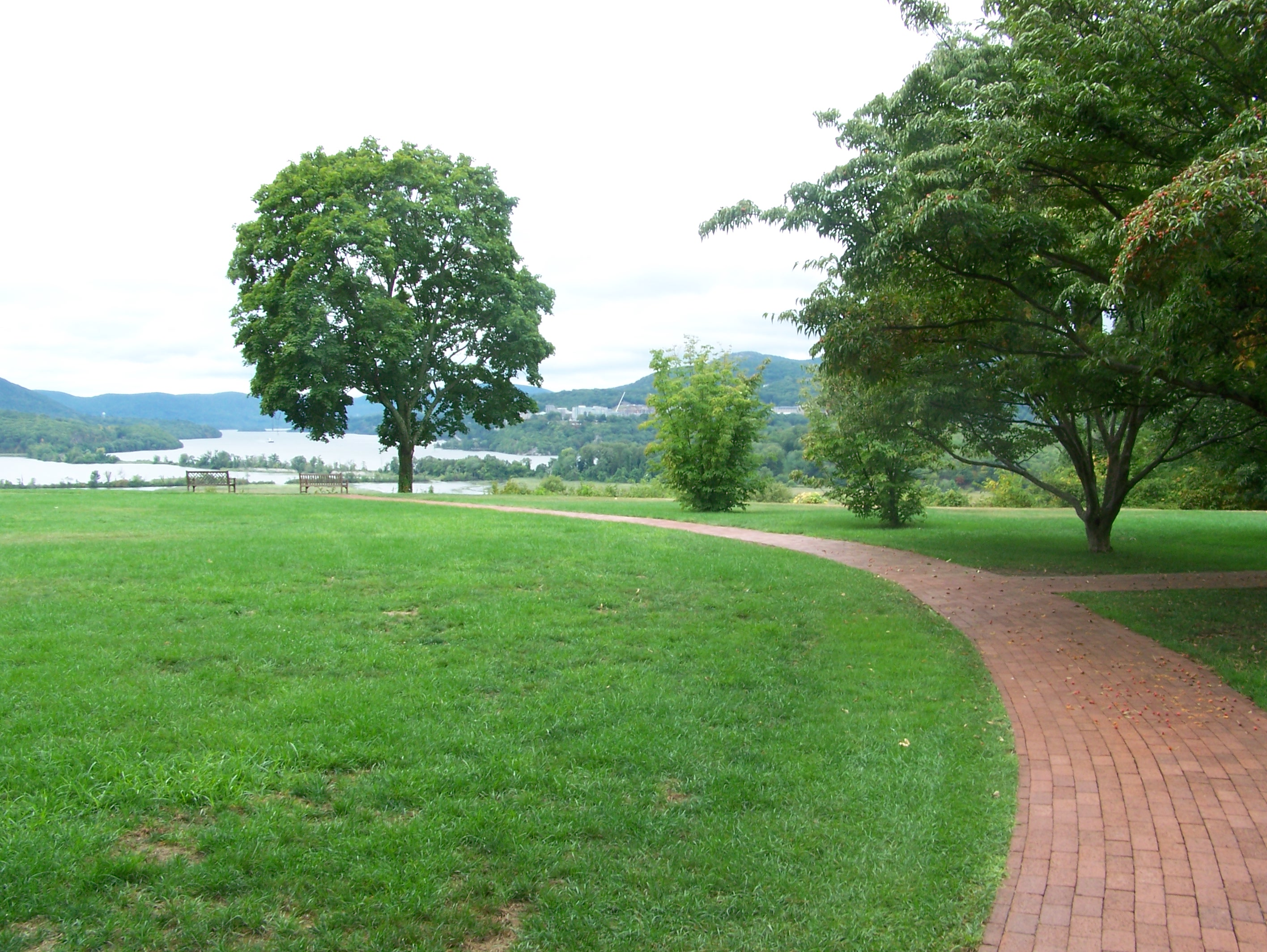 Brick Path to Great Lawn and the View
