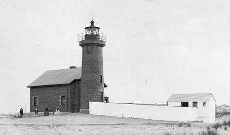 Prior to the construction of the wooden lighthouse, this historic light was placed in operation in 1856. The tower of this antebellum lighthouse still stands and is used by the US Coast Guard.