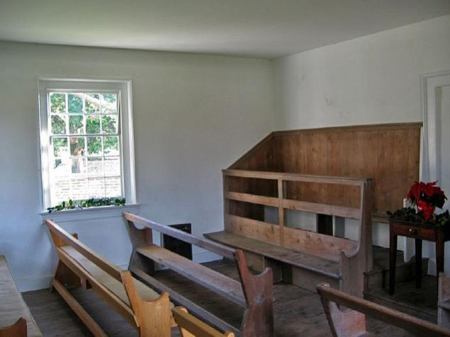 Inside the meetinghouse