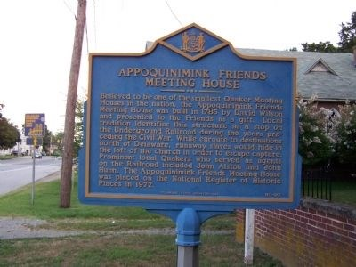 Historical marker telling the story of the structure