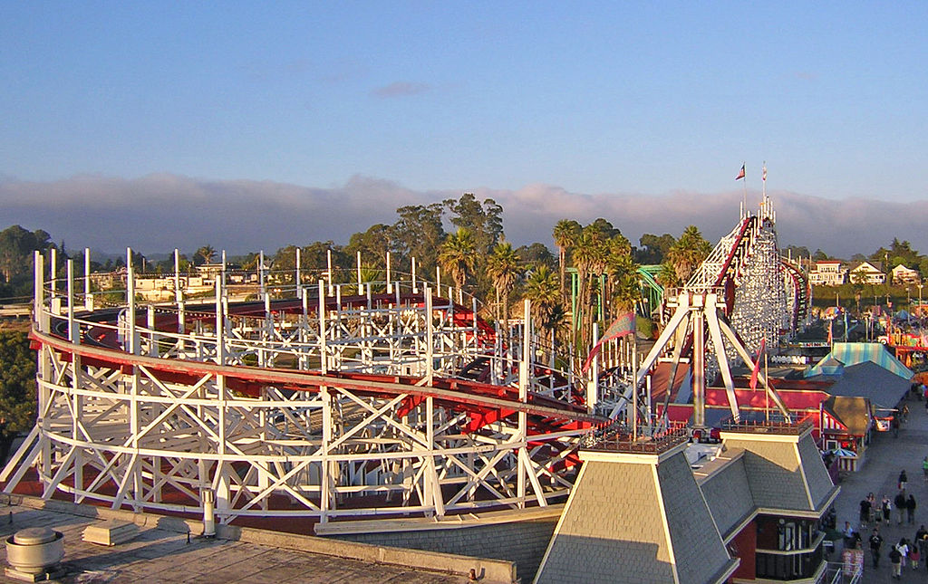 The Giant Dipper debuted in 1924 and continues to provide thrills and enjoyment on the Santa Cruz Boardwalk.