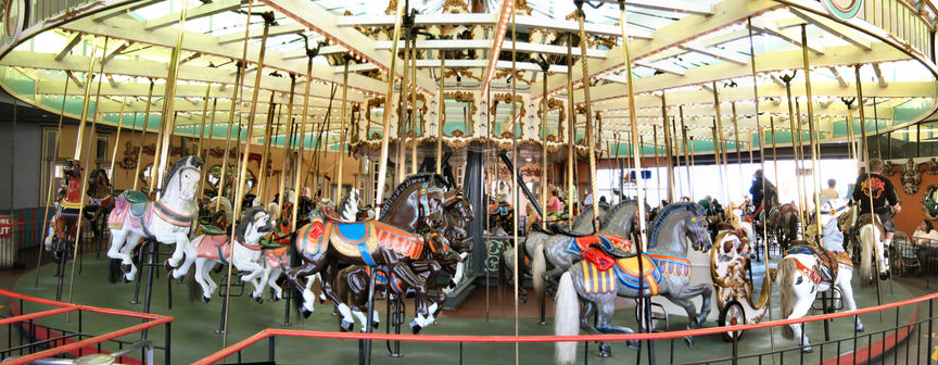 The Loof Carousel has been entertaining families since 1911.