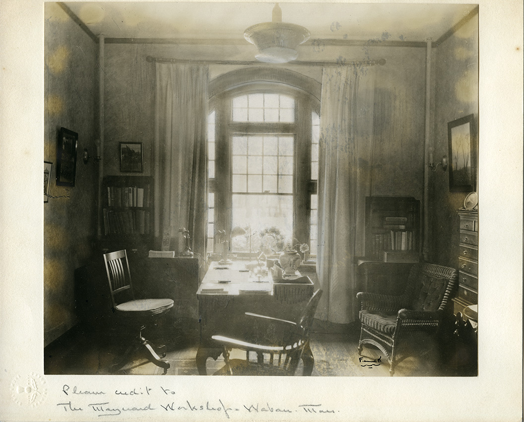 Draper Hall, principal Bertha Bailey's office, 1929. Photograph by Maynard Workshop.
