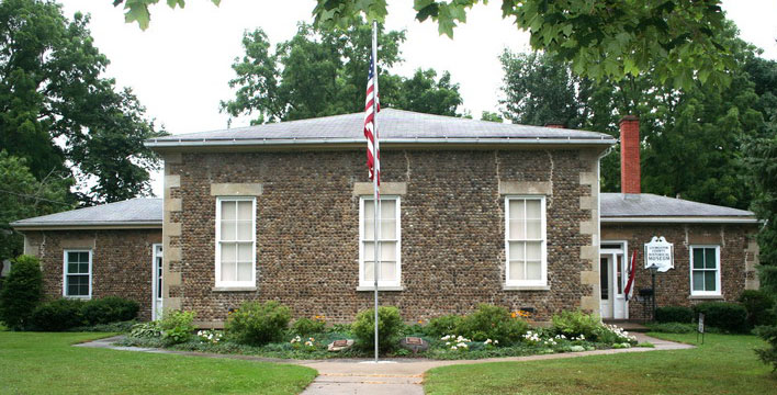 The Livingston County Historical Museum is located in this former 1838 cobblestone schoolhouse.