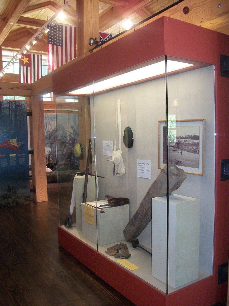 One of the displays in the visitor center