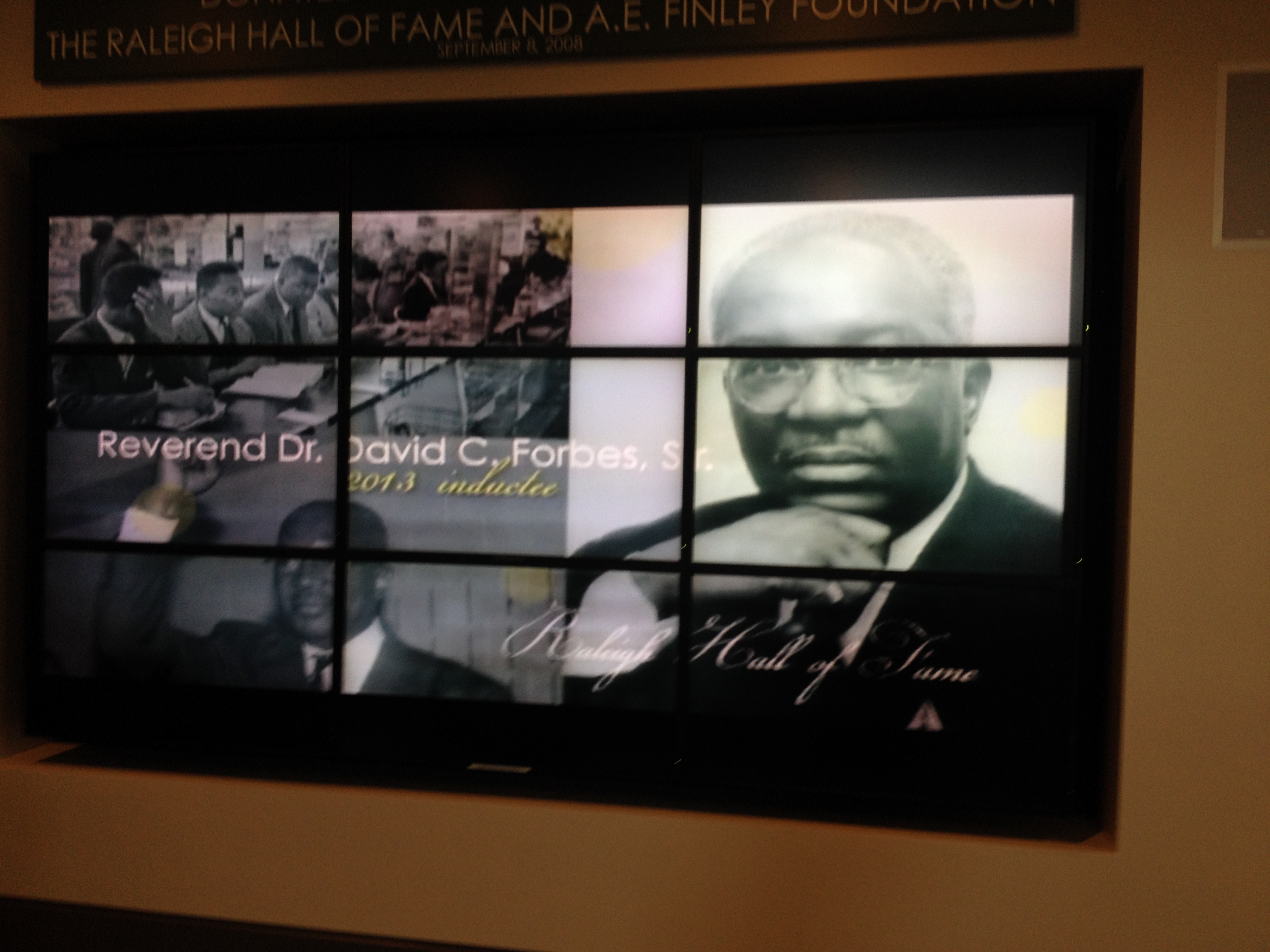 Dr. David Forbes, Raleigh civil rights leader and Raleigh Hall of Fame honoree, 2013. He was the first student arrested during the February 10, 1960 sit in at Woolworths in Cameron Village and founding member of SNCC