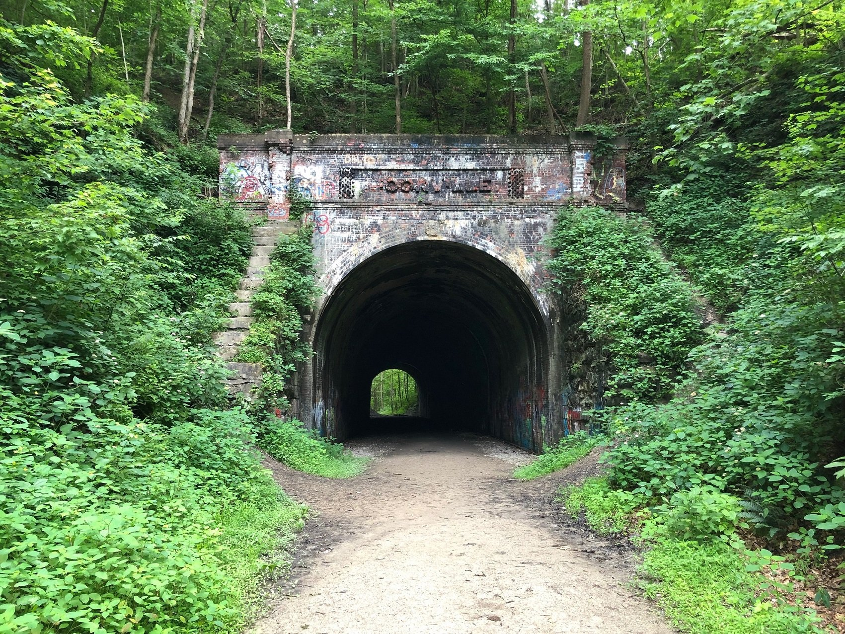 Western portal of the Moonville Tunnel. June 22, 2019.