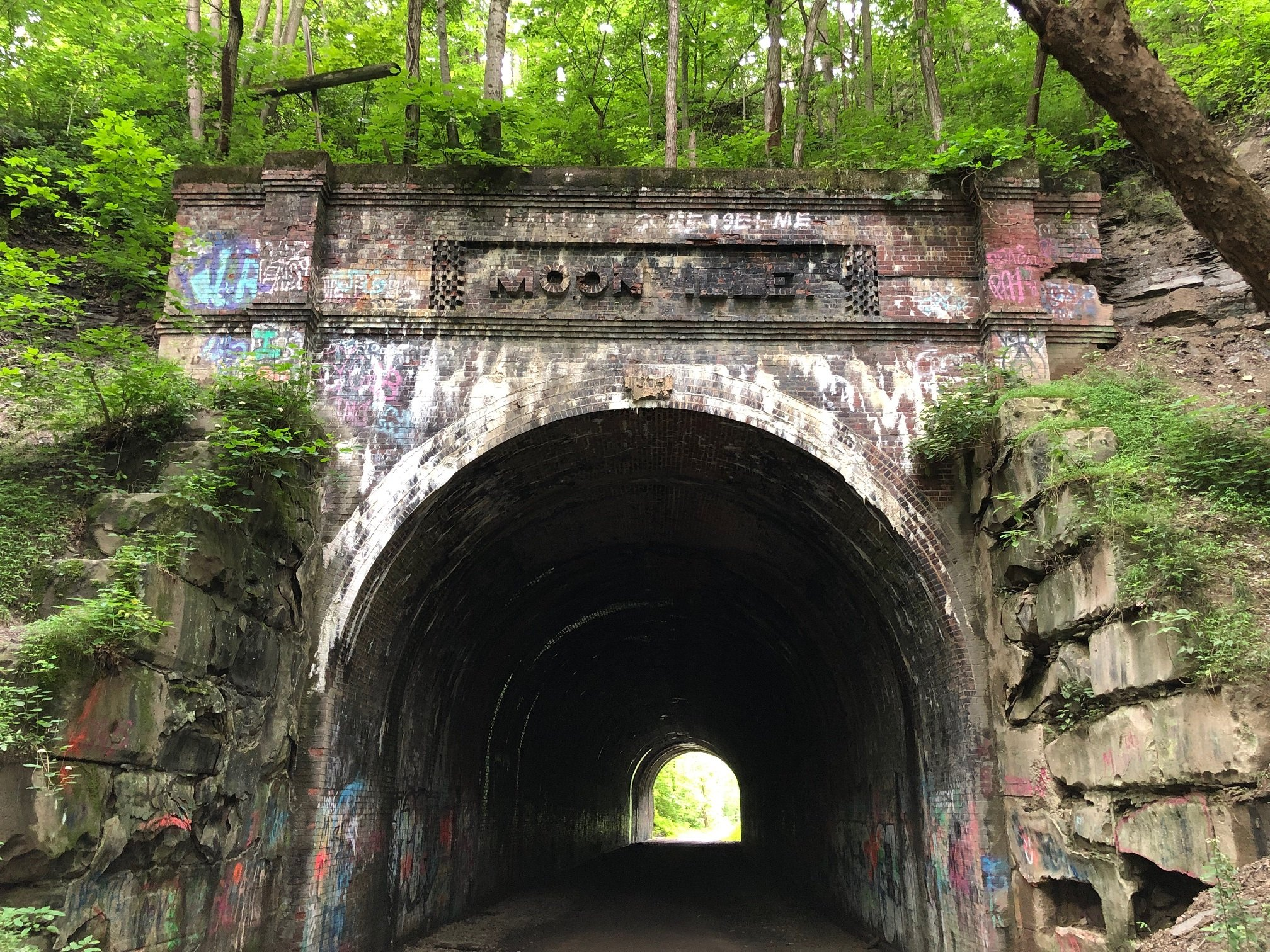 Eastern portal of the Moonville Tunnel. June 22, 2019.