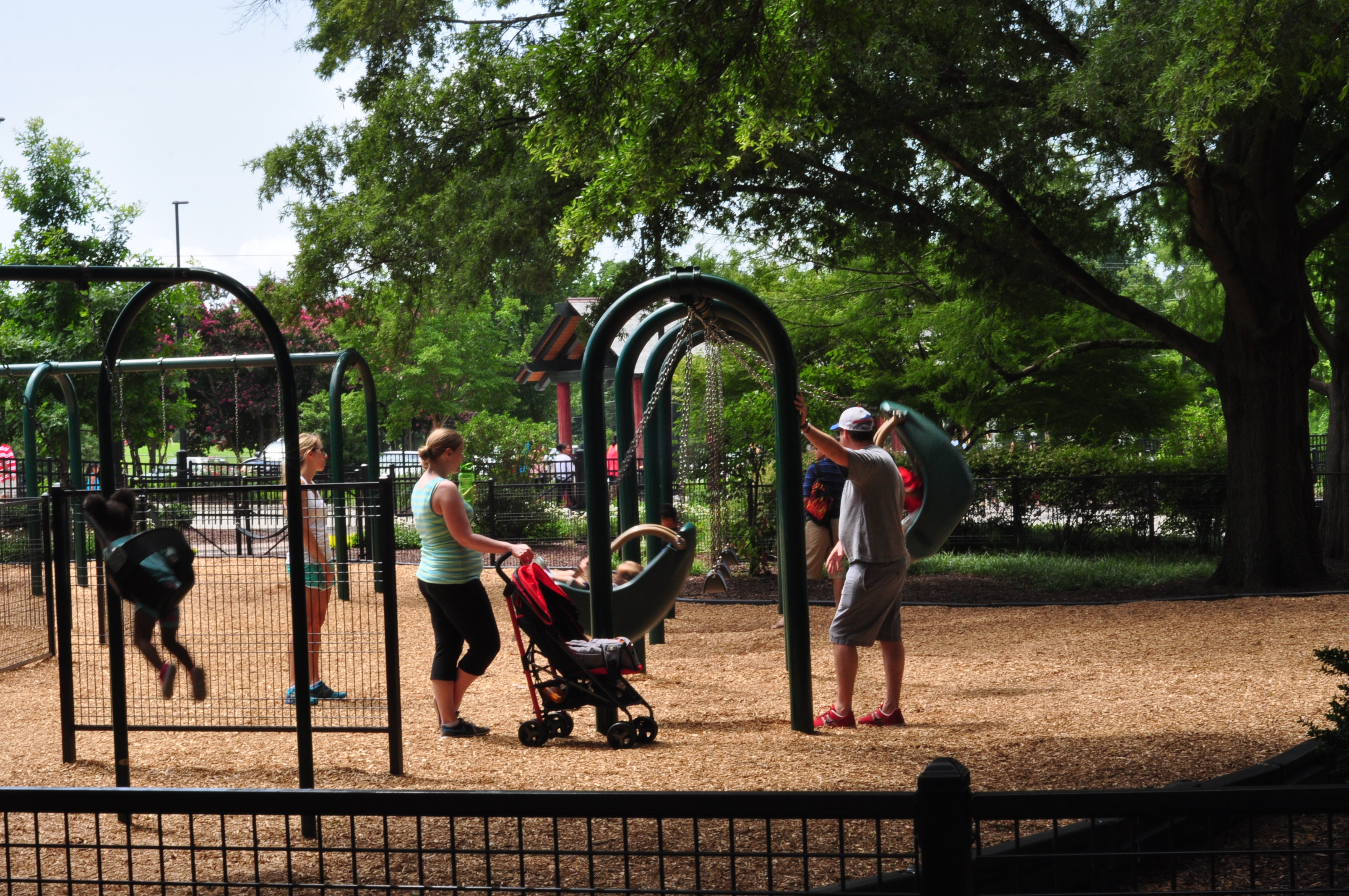 The playground at Pullen Park.