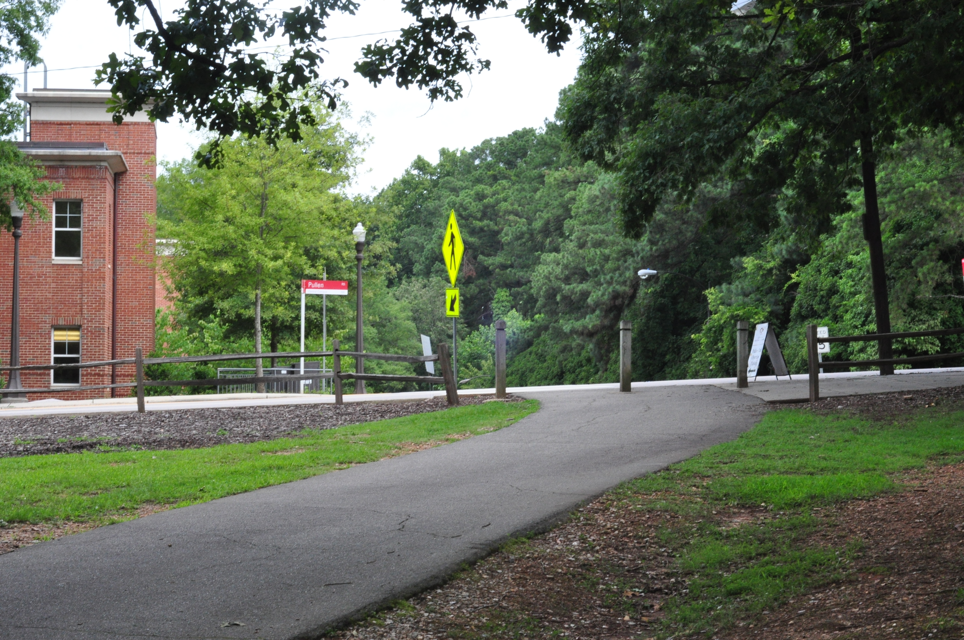 North entry to Pullen Park connected to the NC State.