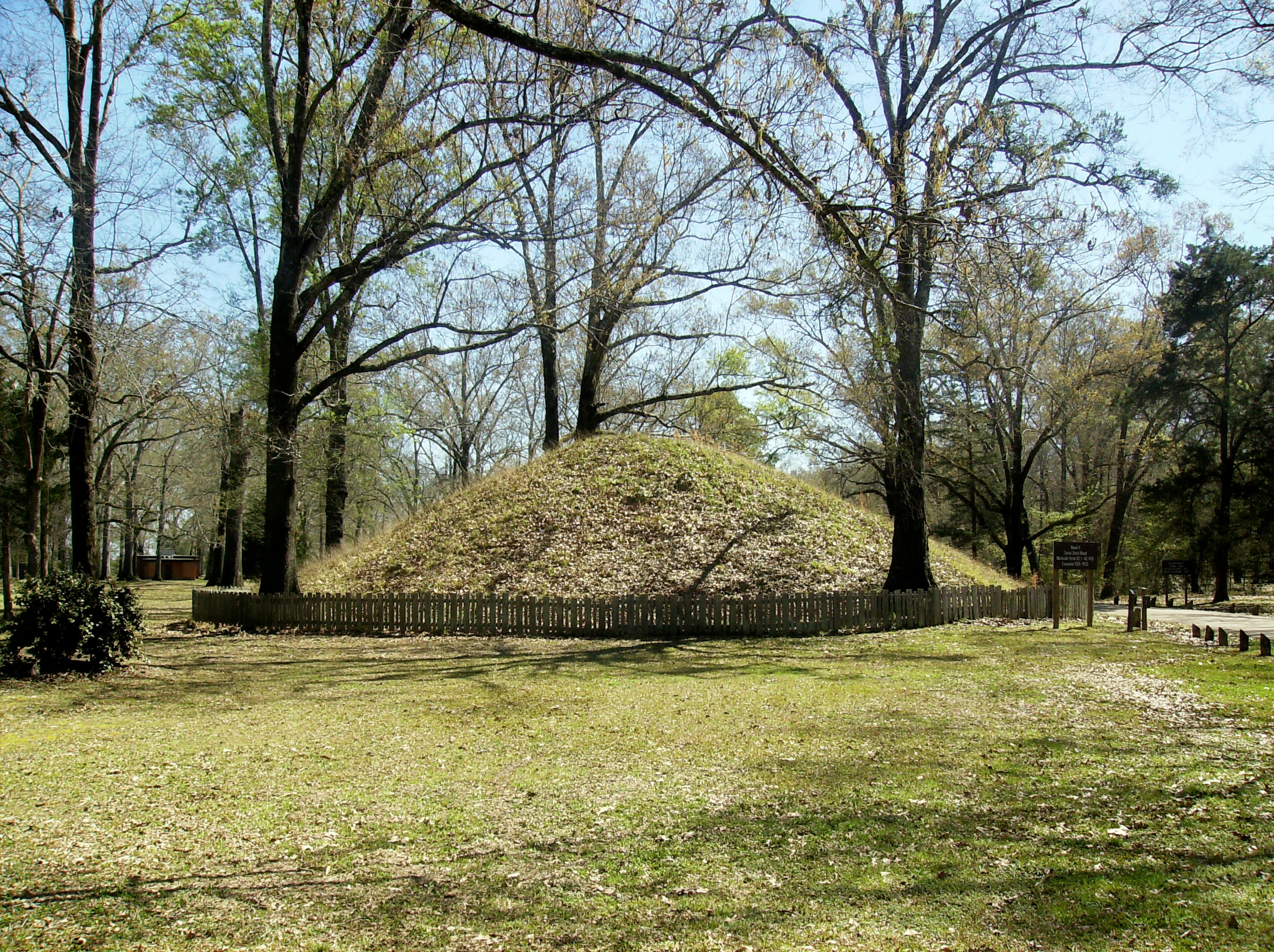 One of the mounds at the site