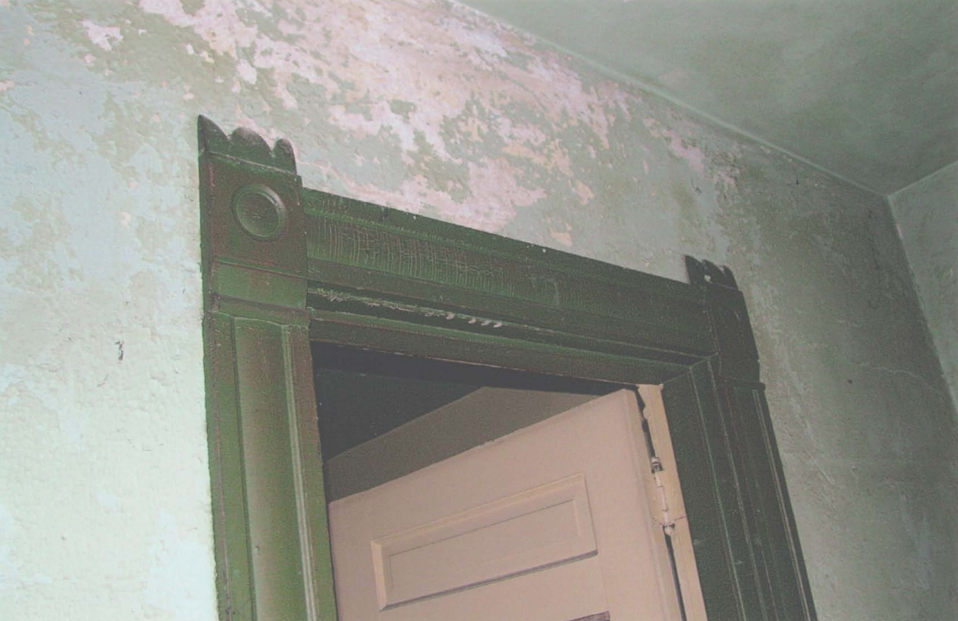 Detailing on a doorway inside the hospital, pictured in 2009