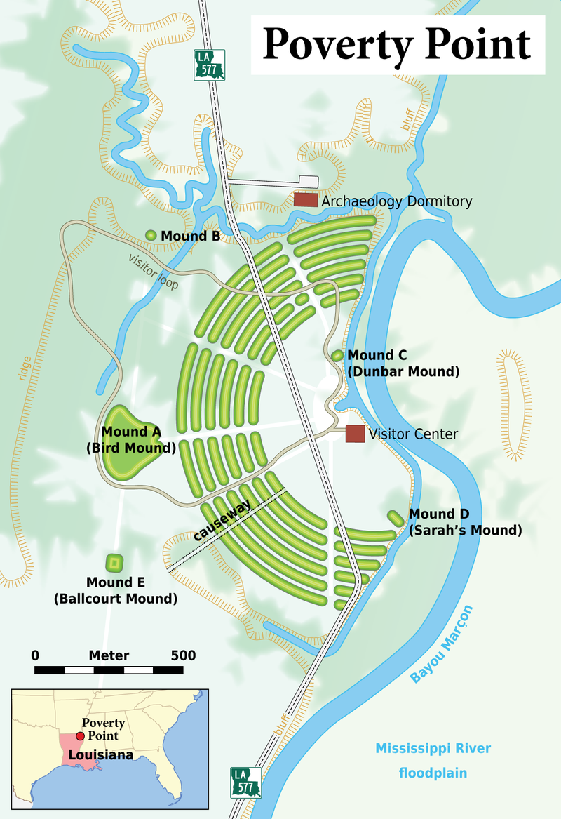 Map of the site