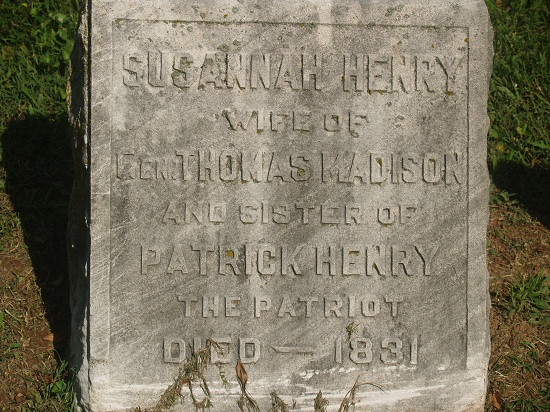 Grave of Susannah Henry Madison