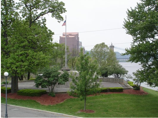 The flagpole located in the General James Taylor Park.