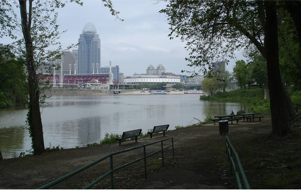 Here is one of the spectacular views of the Cincinnati skyline.