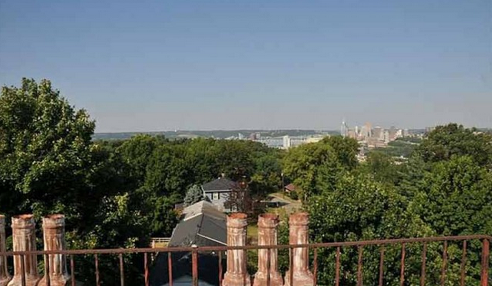 Here is a view of the city of Cincinnati from the James Taylor Mansion.