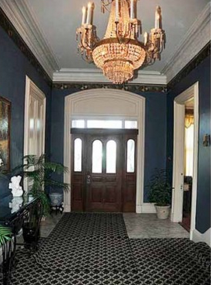 Here is one of the views of the dining room in the James Taylor Mansion.