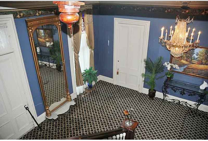 Here is another view of the hallway of the James Taylor Mansion
