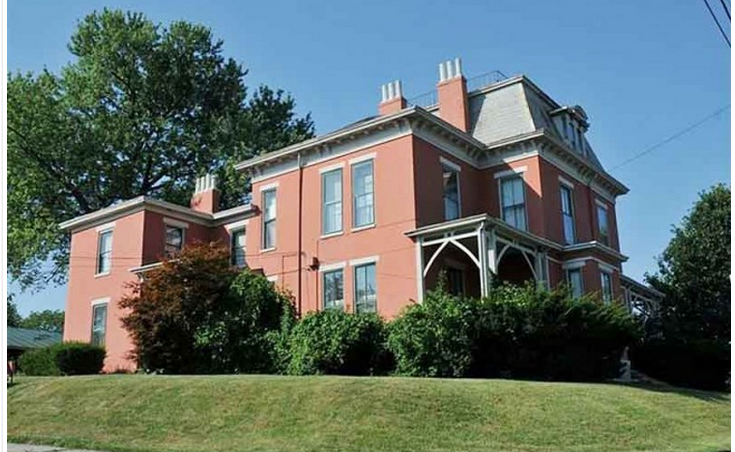Here is a side view of the James Taylor Mansion.